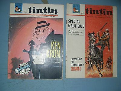 Tintin issues 899 and 900 from 1966 French comic