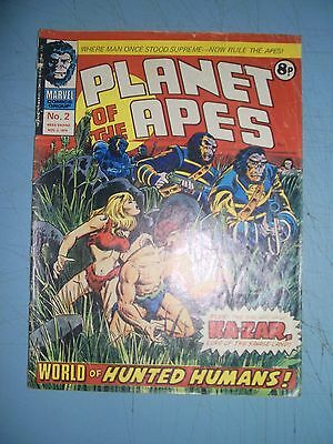 Planet of the Apes issue 2 Marvel UK 1974