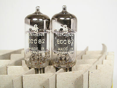 Matched Pair Nos Ecc82-12Au7-Siemens Made By Valvo-Declined Getter-Bulk Box