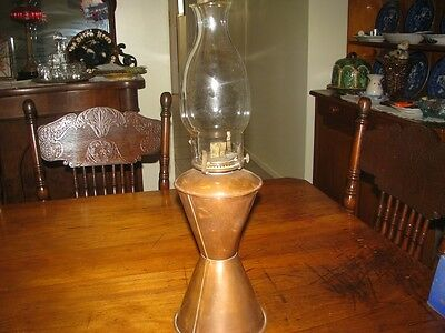 Old Kerosene Lamp - Copper Base.