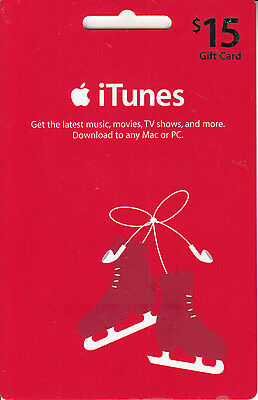 Gift Card U.S.A. iTunes 2007 Large Skating Card