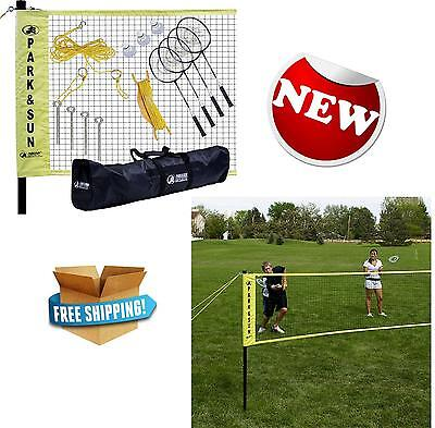 Park Sun Sports Portable Indoor Outdoor Badminton Net System Carrying Bag Play