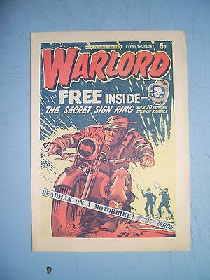 Warlord issue 4 dated October 19 1974