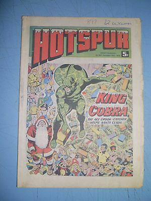 Hotspur issue 897 date December 25 1976 Christmas issue