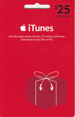 Gift Card U.S.A. iTunes 2007 Large Red Gift