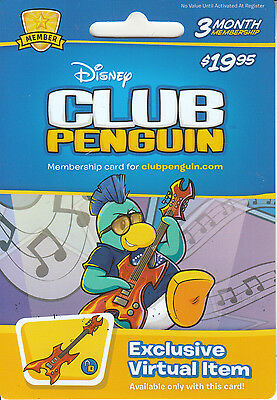 Gift Card U.S.A. Disney Club Penguin_1