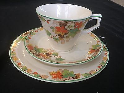 Vintage Grindley Creampetal 'autumn' Trio, Cup Saucer And Plate In Ex Condition
