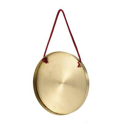 15cm Hand Gong Kids Cymbals Brass Copper Percussion with Round Play Hammer Z0J1