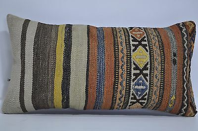 10x20 Bohemian Kilim Pillow 10x20 Decorative Kilim Pillow Cushion Cover 163