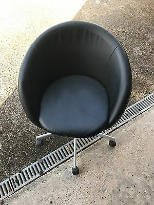 Black Ikea Skruvsra Round Office Swivel Chair