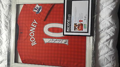 manchester united signed shirt by wayne rooney
