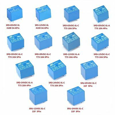 DC 3V / 5V / 9V / 12V / 24V Mini Power Relays 4-Pins 5-Pins 6-Pins 8-Pins