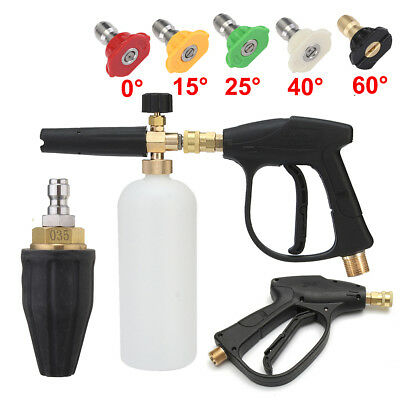 Pressure Washer Snow Foam Lance Trigger Gun Nozzle Tips Set Car Wash Blaster