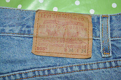 Levis jeans 505 W 34 L 34 regular fit straight leg zip fly