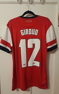 "Arsenal Nike Home Shirt Small 2012-2014 - ""GIROUD 12"""