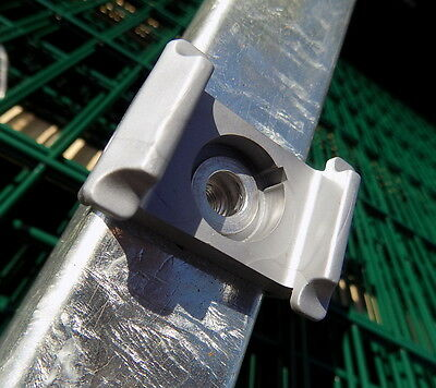 Double Bar - Paling Fence Post Galvanised Height 123CM + Accessories Gate