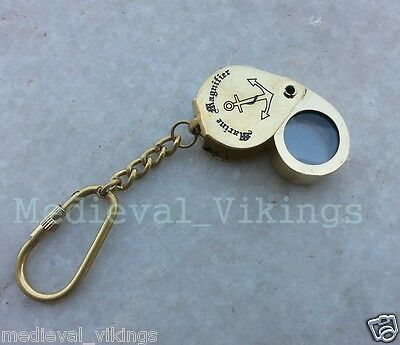 Beautiful Brassmagnifying Necklace Key Chains-Nautical Gift & Antique Finish