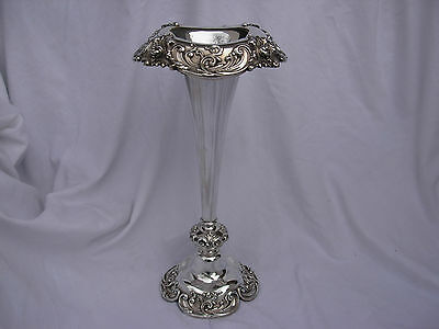 Tall Antique Sterling Silver Vase,reed & Barton,early Xx Century.
