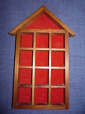 Wooden House Thimble Display Wall Rack