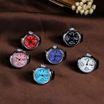 Fashion ladies Gold Stainless Steel Random Stretchable Finger Ring Watches