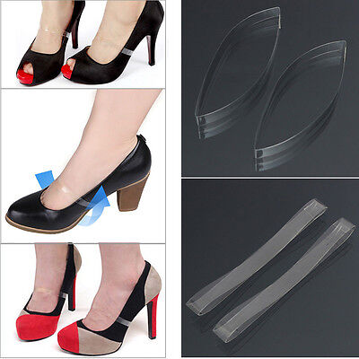 Clear Transparent Invisible High Heel Shoe Straps For Holding Loose shoes C7Z