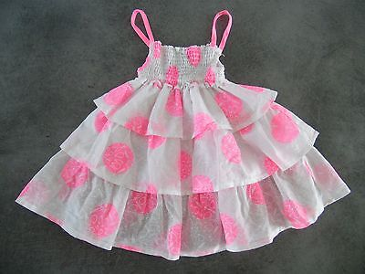 Robe A Volants Bebe Rose Et Blanche Orchestra Taille 6 Mois