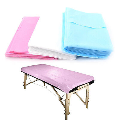 10PC Waterproof Beauty Bed Massage Table Couch Cover Non-Woven Sheet 180*80cmC7Z