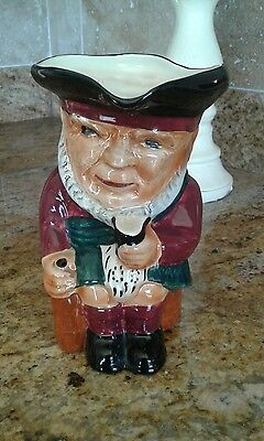 Vintage Staffordshire Toby Jug 17Cm Miss  Scottie Great Condition Collectable