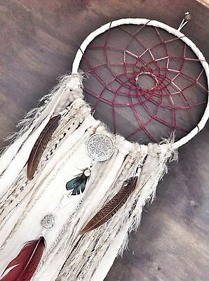 Handmade DREAMCATCHER Gypsy & Lily designs; Boho Wall Art 'lotus Spell' Wall Art