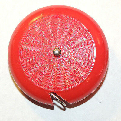 Red push button Tape Measure made in Western Germany (12475)