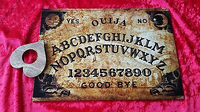 Ouija Board Game Wooden London Thames & Planchette ghost hunt & instructions