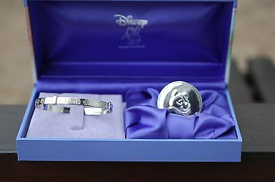 Disney Winnie the Pooh sterling silver bangle and silver plated tooth box