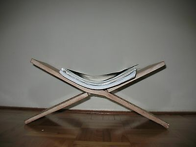 magazine rack; handcarved and collapsible