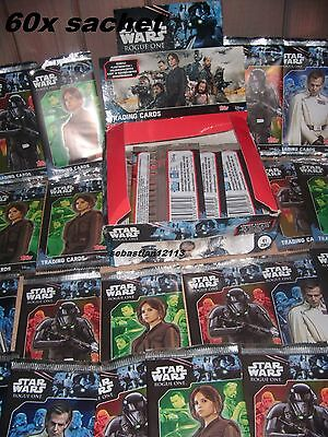 Topps Star Wars - 60 packs - 300 of cards STAR WARS ROGUE ONE Closed sachets