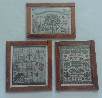 Dolls House Embroidery Samplers (set of 3)