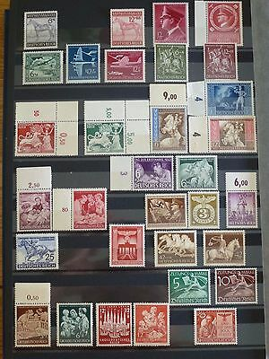 Stamps Germany Third Reich Lot Of Mnh