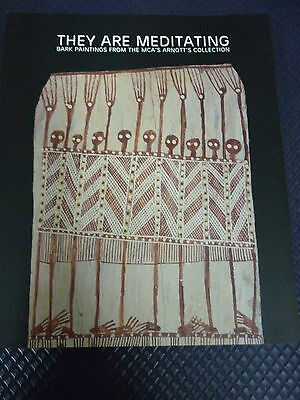 THEY ARE MEDITATING  ( Aboriginal Bark Paintings )   ( BRAND NEW )