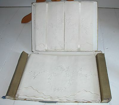 Vintage  Set Of New Pillow Cases & Bolster In Original Box