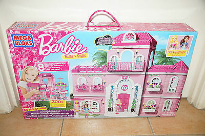 Brand New Barbie Mega Bloks Blocks Build N Style Mansion 80229 lego compatible