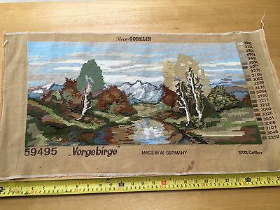 "SKILFULLY COMPLETED RICE-GOBLIN LANDSCAPE TAPESTRY PANEL 24"" x 12"" - Vorgebirge"