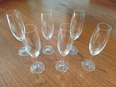 12 Crystal Glass Champagne Flutes