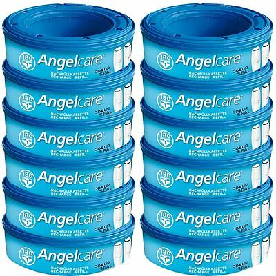 Angelcare Nappy Disposal System Refill Cassette - Pack of 12