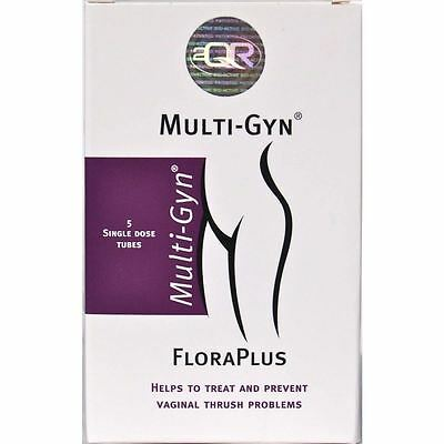 Multi-Gyn Floraplus 5 Tubes | Prevents Vaginal Thrush 1 2 3 6 12 Packs