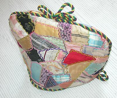 Vintage Victorian Style Quilted /Embroidered Tea Cosy- Hand Made - One Of A Kind