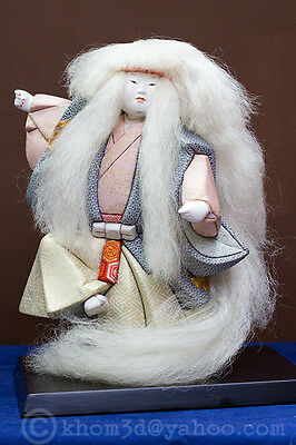Japanese Antique Kabuki Theater Character  doll- kimekomi technique-