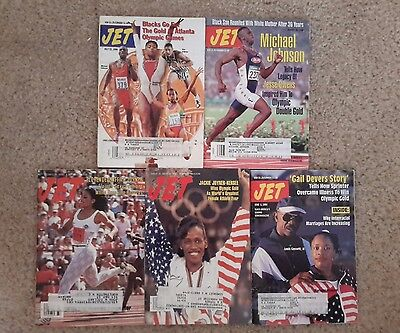 Jet Magazines lot of 5 Olympic Games 1996,1992, 1988, 1996, 1996