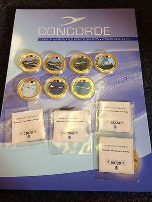 Concorde Queen Of Aviation Coins And Original Book