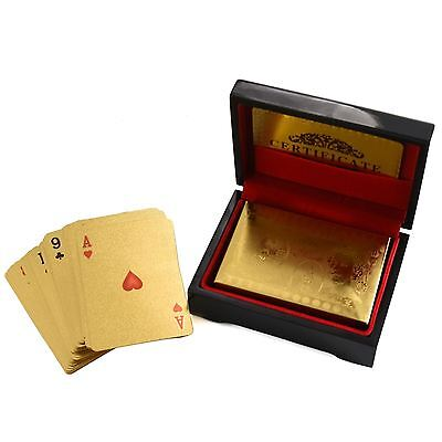 24k GOLD Poker Gold Plated Playing Cards