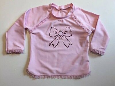 Baby Girls Seafolly Brand Pink Baither Top, Swimwear Size 00 RRP $49.95