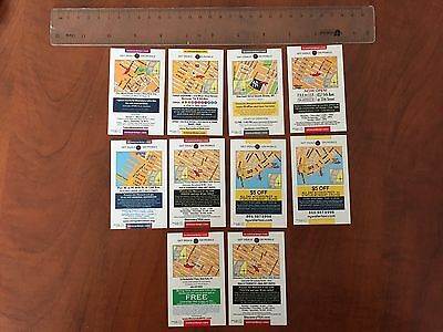Souvenir tourist Exibit - Attraction New York City Mini Cards lot of 10